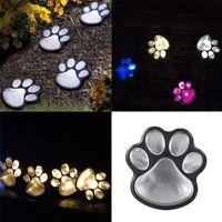 4 Solar Cat Tiertatzen-Druck-Leuchten LED-Solarlampe Garten Im Freien Laterne LED-Pfad dekorative Beleuchtung Abdruck Lampe