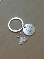 Sıcak Toptan moda Vintage Gümüş Asla pes Etmeyin! Tenis raketi Charm Anahtarlık Fit Anahtar Zincirleri Aksesuarları Takı - 148