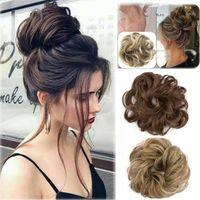 Courly Mordy Bun Hair Piece Scrunchie Updo Cover Hair Extensions Real als Menschlicher heißer Perücke Ring mehr Vogue Bun