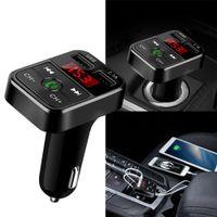 YENİ ARAÇ B2 Bluetooth Araç Kiti MP3 Çalar ile Eller serbest Kablosuz FM Verici Adaptörü USB Araç Şarj B2 Destek Micro SD Kart