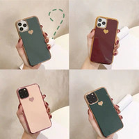 Plating love heart Phone Case For iPhone 11 Pro Max High Qua...