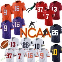 961148966 top 2019 NCAA 16 Trevor Lawrence jersey 9 Travis Etienne Jr. College  Football jerseys 13 Tua Tagovailoa Jerseys 7 Dwayne Haskins Jr. 97 Bos