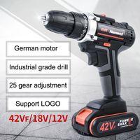 2Speeds Electric Drill Akkuschrauber 21V 18V 12V Lithium-Batterie-Akku-Bohrschrauber Mini Akkuschrauber Elektrowerkzeug BC VT0937 Drill