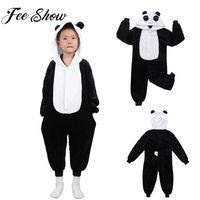 Enfants Mignons Animaux Panda À Capuche Pyjamas Vêtements De Nuit Garçons Filles Carton D'hiver Flanelle Combinaison Vêtements De Nuit Enfant Des Costumes De Sommeil