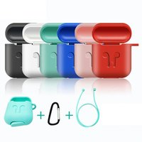Custodia AirPods Custodia protettiva in silicone Custodia antiurto Earpods per Apple Cuffie per Airpod Case Accessori per caricabatterie Top