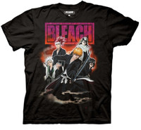 Bleach Group Smoke Ichigo Rukia Bankai Camiseta para adultos con licencia