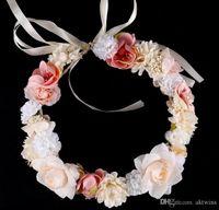 Hochzeit Blumenkranz Haarreif Braut Hochzeit Girlanden Girlande Kronen-Stirnband-Blumenmädchenprinzessin Blumenkränze BrautTiara LXL70-1
