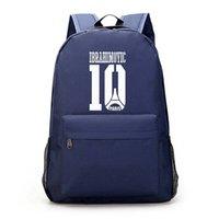 Ibrahimovic الأولاد كمبيوتر محمول قماش كبير مدرسة حقيبة الظهر الفتيات حقيبة الكرة ل mochila حقيبة الظهر المراهقين encolar qtsmj