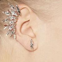 1PC أزياء المرأة حجر الراين كريستال عشرة أنماط مختلفة القرط الكفة الأذن كليب مجوهرات # 245971