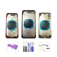 İPhone 8 8P X XR XS XSMAX 11 11 Pro 11 Pro Max Geri Konut Geri Akü Kapağı Arka Kapı Konut Kılıfı Orta Çerçeve