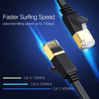 Ücretsiz nakliye Cat7 Ethernet Kablo RJ45 Lan Kablo UTP RJ Modem Router Ethernet için Cat6 Uyumlu Patch Cord 45 Ağ Kablosu