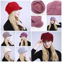 2019 년 겨울 패션 봉제외 따뜻한 여자의 니트 모자 부드러운 양모 모자 크기 조정 9 스타일 T3I5390