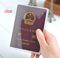 2019 New Transparent Dull Polish Wasserdichte Passdecke Protable Passport Wallets Kartenhalter Inhaber Cover Case