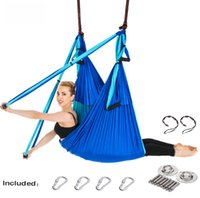 Yoga Hamac Gym Force Anti-Gravity Inversion aérienne de traction Balançoire Yoga Ceinture Set