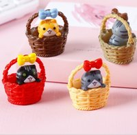 Gift Mini Cheese cat miniature figurines toys cute lovely Mo...