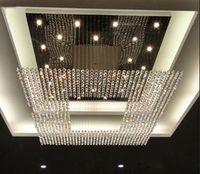 Novo Design Hot Design de Cristal Lâmpada Luminária Iluminação Grande Moderno Cristal Chandelier Hotel Lobby Levante Led Chandelier Iluminação L150 * W150cm