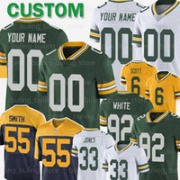 6 JK Scott Jersey su ordinazione Green Bay