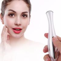 Elektrisk ögonmassager mini ögon rynka mörka cirklar borttagning penna anti aging massager negativt jon vibrations ansikte lyft verktyg varmt