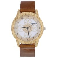 Holz Retro Mann Frauen Casual Uhren Marke Vintage Holz Armbanduhren Mit Lederband Quarz Uhr Stunden Mode Gesicht Holz kleid Uhr