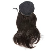 100g Straight Virgin Human pony tail Hair Extensions Natural Non Remy Horsetail Tight Hole Clip In Drawstring Rabo de Cavalo Blonde Brown Color
