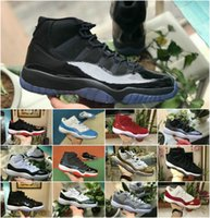 2019 New Concord 45 11s Männer Basketball-Schuhe Snake Navy Low Light Knochen-Rosa Platinum Tint Space Jam 11 Designer Neutral Olive Sport Trainer