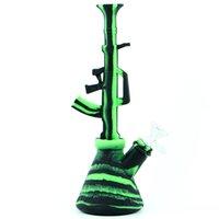 AK47 tubos de água cachimbo de água por atacado fumar Bong Bong Bongo Portátil removível e fácil de limpar o equipamento Dab