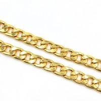 UsenSet 11mm Edelstahl 18 Karat vergoldetes kubanisches Bordsteinhund Haustier oder Katze-Link-Kettenkragen-Haustiervorräte