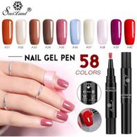 Saviland Neueste 58 Farben Gel Nagellack Pen Glitter Hybrid dawdler UV Nail Art Gel Lack Gel Farbe