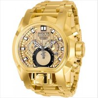 Top quality swiss cosc original INVICTA brand 18k gold Two W...