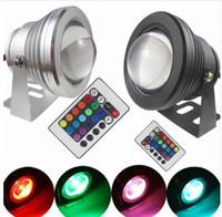 Lámpara subacuática LED RGB 16 colores 10W AC 12V IP65 a prueba de agua piscina estanque tanque de peces acuario lámpara de luz LED con control remoto