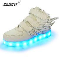 KRIATIV Kinderschuhe glühende Turnschuhe led Hausschuhe Korb led Kinder leuchten Schuhe leuchtende Turnschuhe Jungen Mädchen