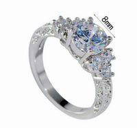 2 шт./лот замечательный низкая цена высокое качество Алмаз crysltal 925 серебряный леди кольцо размер 6----10ug 5.5 etre