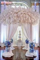 Commercio all'ingrosso 100 pc per lotto Bianco struzzo piuma della piuma nera per decorazioni da tavolo pezzi centro di nozze partito forniture