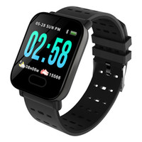 A6 Smart Watch Herzfrequenz-Monitor-Sport-Fitness Tracker Blutdruck Call Reminder Männer Uhr für Android-System Freies Verschiffen