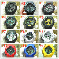 Stile di marca degli uomini 5 pz / lotto orologio da polso Sport doppio display GMT Digital LED reloj hombre Esercito Militare orologio relogio masculino dropship