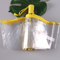 우산 비 여성 남성 일 비 자동 Paraguas 소형 방풍 스타일 지우기 접는 우산 50PCS / 많은 자동 투명 Paraguas