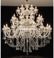 Free Shipping Modern Clear White Crystal Chandelier Modern C...