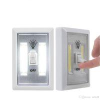 Магнитный переключатель Мини-COB светодиодные лампы Аккумуляторный Wall Ночные огни батарейках кухонный шкаф Гараж шкаф Кэмп аварийное освещение