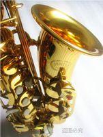 Jüpiter JAS-769 Yeni Varış Alto Eb Tune Saksafon Pirinç Musical Enstrüman Altın Lake Sax Durumda Ağızlık Ücretsiz Kargo