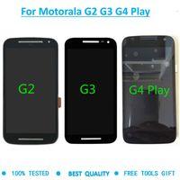 Motorola Moto G2 XT1063 XT1064 G3 XT1544 G4 Play için XT1601 XT1602 lcd'ler sayısallaştırıcı montaj cep telefonu dokunmatik paneli aracını görüntülemek