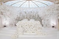 Wholesale White wedding props Road flower stage background d...