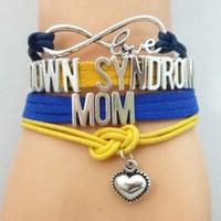Unendlich Liebe Down-Syndrom-Team Armband anpassen Sport-Armband-Freundschaft-Armbänder B09552