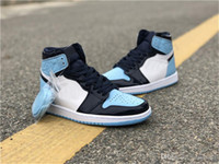 2019 Authentic Air High OG 1 Retro UNC Patent Basketballschuhe Sneaker WMNS ASG Obsidian Blau Chill White CD0461-401 Mit Box 5-12