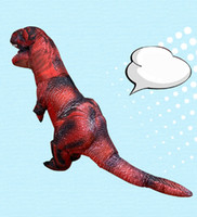 Kırmızı T-Rex Dinozor Şişme Kostüm Yetişkin Trex Fantezi Elbise Cadılar Bayramı Takım Elbise Parti Maskotu
