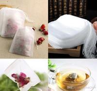 Chaud Nouveau 100pcs / Pack Teabags 5,5 x 7cm Sacs à thé parfumés vides avec chaîne Sohing Sceller Filter Papier Filtrer pour Herb Loose Thé Bolsas WCW220