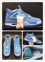 4 unc Blue player edition TOP Versão 4s PE Basketball Shoes IV mens formadores 2019 camurça Sports Sneakers com Box grátis shippment size7-13