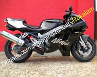 Verkleidungen für Kawasaki Ninja ZX 7R ZX7R 96-03 ZX-7R 1996-2003 Moto Bodywork Black White Silver Fairing Kit