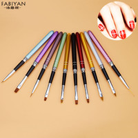 10pcs Nail Art Brush Crystal Carving UV Gel Drawing Painting...