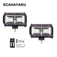 ECAHAYAKU 5 zoll 54 Watt LED Lichtleiste Flut Combo Strahl Offroad 12 V 24 V Arbeitslampe Für ATV 4WD 4X4 Bootfahren Jagd Auto styling