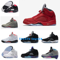 2019 shoes 5 Red Blue Suede White Cement Camo 2018 Raptors H...